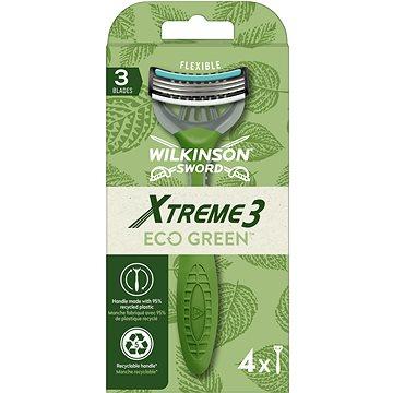 WILKINSON Xtreme3 ECO Green 4 ks - Jednorazové holiace strojčeky