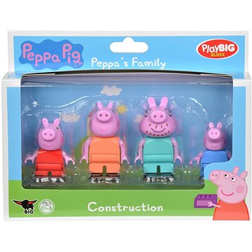 PlayBig Bloxx Prasiatko Peppa Rodina - Sada figúrok