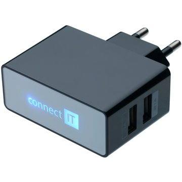 CONNECT IT CI-153 Dual Charger 230 V čierna - Nabíjačka do siete
