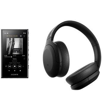 Sony MP4 16GB NW-A105L čierny + Sony Hi-Res WH-H910N čierne - Set