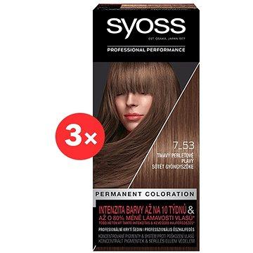 SYOSS Color 7-53, tmavoperleťovo-plavý, 3× 50 ml - Farba na vlasy