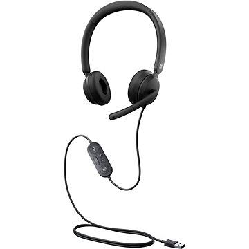 Microsoft Modern USB Headset, Black - Slúchadlá
