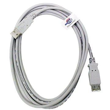 OEM USB 2.0 predlžovací 5 m AA sivý - Dátový kábel