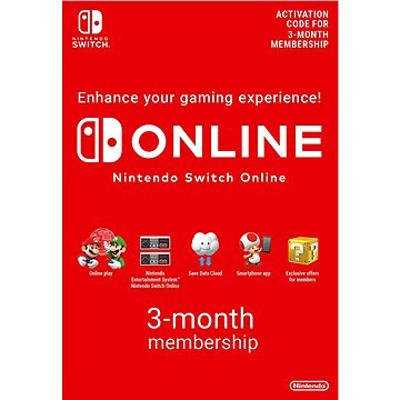 90 Days Online Membership (Individual) – Nintendo Switch Digital - Dobíjacia karta