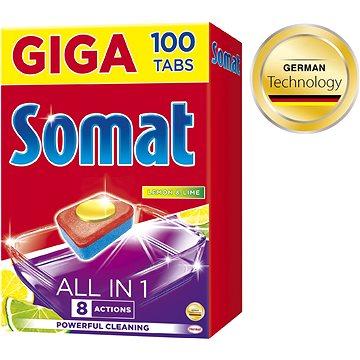 SOMAT All in 1 Lemon & Lime 100 ks - Tablety do umývačky