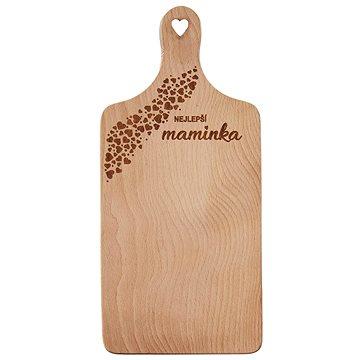 Lopárik rukoväť drevo MAMIČKA 30 × 14 cm - Doska na krájanie