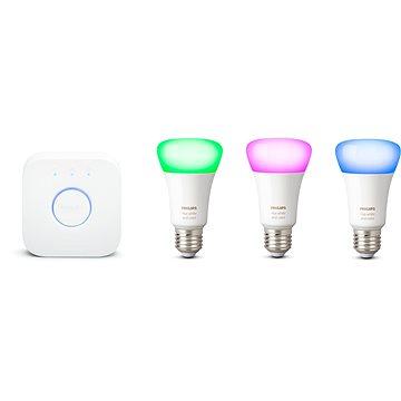 Philips Hue White and Color ambiance 9W E27 promo starter kit - Súprava inteligentného osvetlenia