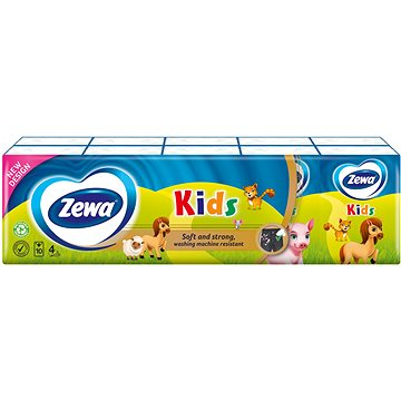 ZEWA KIDS 10× 9 ks - Papierové vreckovky