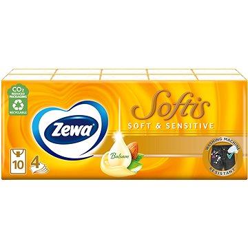 ZEWA Softis Soft & Sensitive (10×9 ks) - Papierové vreckovky