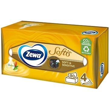 ZEWA Softis Soft & Sensitive BOX (80 ks) - Papierové vreckovky