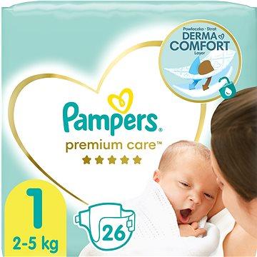 PAMPERS Premium Care Newborn vel. 1 (26 ks) - Detské plienky