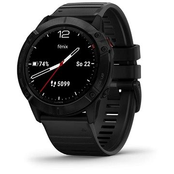 Garmin Fenix 6X Pro Glass Black/Black Band - Smart hodinky