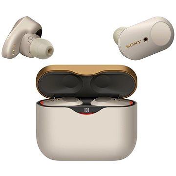 Sony True Wireless WF-1000XM3 strieborné - Bezdrôtové slúchadlá