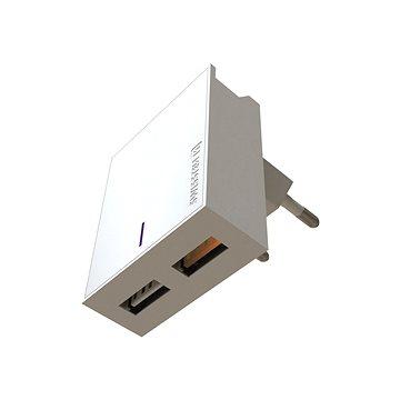 Swissten sieťový adaptér 2× USB QC3.0 23 W biely - Nabíjačka do siete