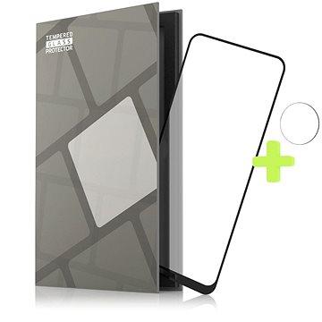 Tempered Glass Protector Rámčekové pre Nokia X10/X20, čierne + sklo na kameru - Ochranné sklo