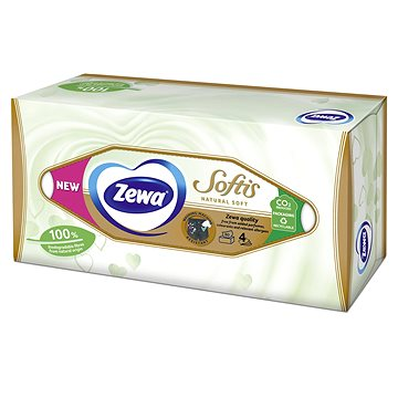 ZEWA Softis Natural Soft box 80 ks - Papierové vreckovky