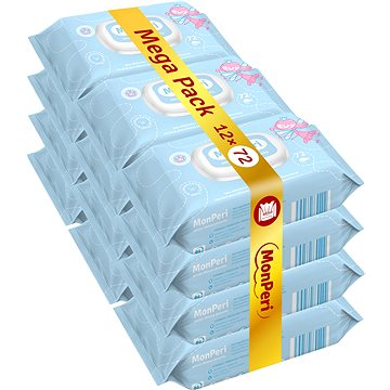 MonPeri Mega Pack (12× 72 ks) - Detské vlhčené obrúsky