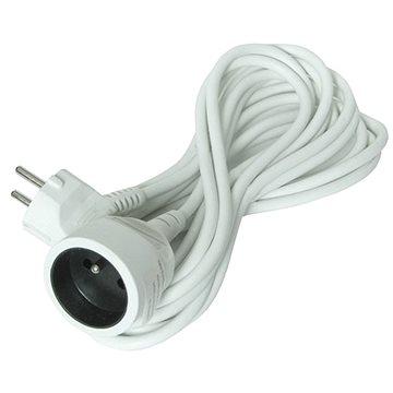 Solight Predlžovací kábel, 1 zásuvka, biely, 5 m - Predlžovací kábel