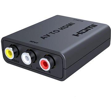 PremiumCord prevodník AV kompozitného signálu a stereo zvuku na HDMI 1080P - Redukcia