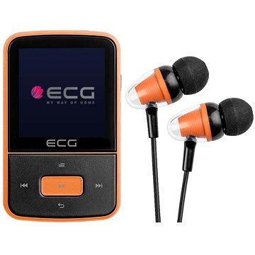 ECG PMP 30 8 GB Black & Orange - MP4 prehrávač
