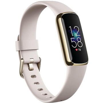 Fitbit Luxe – Lunar White/Soft Gold Stainless Steel - Fitness náramok