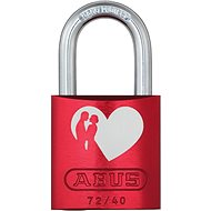 ABUS 72/40 rot Love Lock - Visiaci zámok