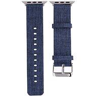 Eternico Apple Watch 42 mm/44 mm Canvas Band modrý - Remienok