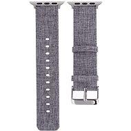Eternico Apple Watch 42 mm/44 mm Canvas Band sivý - Remienok