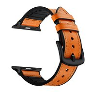 Eternico Apple Watch 38 mm / 40 mm Leather and Silicone Band Orange - Remienok