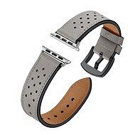 Eternico Apple Watch 38 mm / 40 mm Leather Band Grey - Remienok