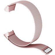 Remienok Eternico Fitbit Charge 3/4 Steel ružový (Large)