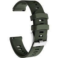 Eternico Garmin Quick Release 20 Silicone Band Steel Buckle zelený - Remienok