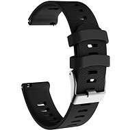 Eternico Garmin Quick Release 20 Silicone Band Steel Buckle čierny - Remienok