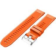 Eternico Garmin Quick Release 22 Silicone Band Silicone Silver Buckle oranžový - Remienok