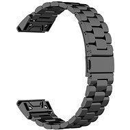 Eternico Garmin 22 Stainless Steel Band Black Steel Buckle čierny - Remienok