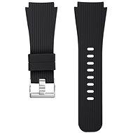 Eternico Quick Release 22 Silicone Vertical Grain Silver Buckle čierny pre Samsung Galaxy Watch - Remienok
