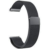 Eternico Quick Release 20 Milanese Band čierny pre Samsung Galaxy Watch - Remienok