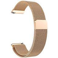 Eternico Quick Release 20 Milanese Band ružovo zlatý pre Samsung Galaxy Watch - Remienok