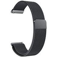 Eternico Quick Release 22 Milanese Band čierny pre Samsung Galaxy Watch