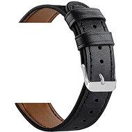 Eternico Quick Release 22 Leather Band čierny pre Samsung Galaxy Watch