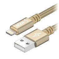 AlzaPower AluCore Lightning MFi 2 m Gold - Dátový kábel