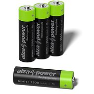 AlzaPower Rechargeable HR6 (AA) 2500 mAh 4 ks v eko-boxe