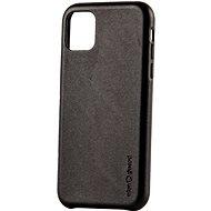 AlzaGuard Premium Leather Case for iPhone 11 čierny - Kryt na mobil
