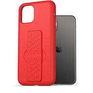 AlzaGuard Liquid Silicon Case with Stand iPhone 11 Pro červený