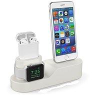 AhaStyle stojan na Airpods, iPhone a iWatch béžový - Stojanček