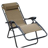 DIMENZA Relaxačné polohovateľné ležadlo hnedé - Záhradné lehátko