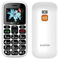 Aligator A321 Senior White + stolná nabíjačka - Mobilný telefón