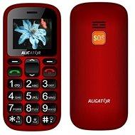 Aligator A321 Senior červeno-čierny + stolná nabíjačka - Mobilný telefón
