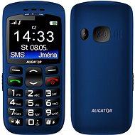 Aligator A670 Senior Blue + Stolná nabíjačka - Mobilný telefón