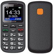 Aligator A431 Senior čierna/sivá + stolná nabíjačka - Mobilný telefón